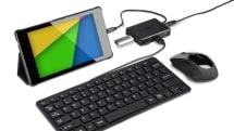 バッファローからNexus 7他タブレット本体を充電できるUSBハブ。マウスやキーボードとドック運用