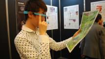Google Glassで未来の新聞を体験する「朝日新聞AIR」デモ