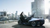 日産が三角翼形のコンセプト EV スポーツ「ブレイドグライダー」を公開、市販化を目指す