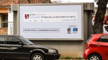 ネットの差別ツイートを発言者自宅近くの看板で晒す作戦、ブラジルで反差別グループが実施。バーチャルな差別のリアルな結果