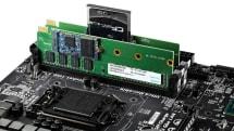 ApacerからM.2/CFastスロットを搭載するDDR3メモリCombo SDIMM、信号接続は別途専用SATAケーブルが必要