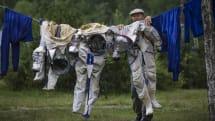 写真:宇宙飛行士の洗濯風景 (ガガーリン宇宙飛行士訓練センター)