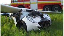 空陸両用車 AeroMobil、テスト飛行で墜落。パイロットは直前にパラシュートで脱出し無事