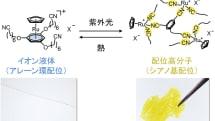 神戸大学、光を当てると固体に、加熱すると液体に戻る新物質を開発