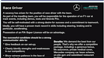 求むF1ドライバー!メルセデスF1チームが異例の求人広告。あると望ましい技能は「特にアクセルを踏めること」