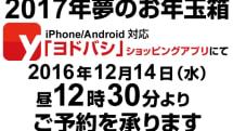 2017年のヨドバシ福袋のネット販売、12月14日12時30分から整理券予約販売を開始