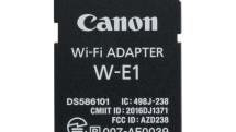 キヤノン、SDカード型Wi-Fiアダプタ『W-E1』。デュアルスロットの片側を使ってカメラにWi-Fi機能を付加