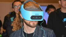 HTCの単体VRヘッドセットVive Focus公開。ケーブルなしの「世界スケール」トラッキング対応、3軸コントローラ付属