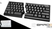 HHKBサイズの左右分離型キーボードが発表。Cherry MXスイッチ採用、右部のみでフルキー相当なマクロ機能も
