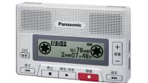 パナソニックからカセットテープ型ICレコーダーRR-SR30。ラジカセ風ボタンに回るリールハブ表示