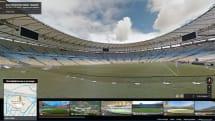 Google ストリートビューにブラジルW杯のスタジアム12か所追加、ピッチ上から内部を一望