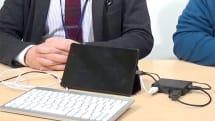 動画:バッファローのタブレット用充電機能付きUSBハブ、Nexus 7でOffice for Android tablet プレビュー版操作