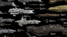 Sci-fi ship chart compares size of ships from EVE, Star Wars, and more