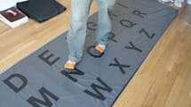 Carpet keyboard gives your feet a non-QWERTY workout