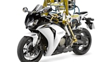 Video: Flossie the robot can 'ride' a motorcycle, remains oblivious to good oral hygiene