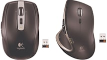 Logitech's Unifying-equipped Performance Mouse MX and Anywhere Mouse MX track on glass