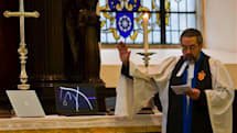 Vicar gives his blessing to cellphones and laptops (but not to their most common uses)