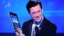 Stephen Colbert has an iPad... (video)