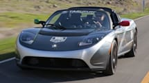 TAG Heuer's Tesla Roadster gets pictured on the road