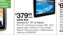 ViewSonic G-Tablet pops up in Sears weekly ad, mistakenly claims to be the ViewPad 10 at Sears' website