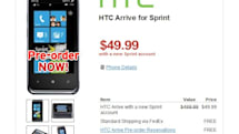HTC Arrive up for $50 pre-order at Wirefly, requires new Sprint account and two-year contract