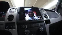 iPad 2 installed in Ford F-150 truck, does FaceTime while you roll over stuff (video)
