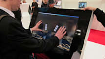 3M's 32-inch display with 10-finger multitouch steps out at CeBIT (video)