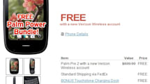 HP now offering Verizon-branded Palm Pre 2 for zilch on contract