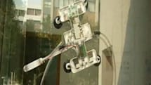 Gecko-inspired water-powered robot scales glass, washes windows (sort of)