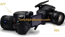 Sony's A77 and A65 spied in leaked image, announcement to follow?