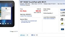 Let the liquidation begin -- HP's 16GB TouchPad on sale for $99