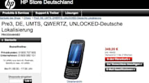 HP's Pre 3 goes up for pre-order in Germany, shipping in '1 bis 2 Wochen'