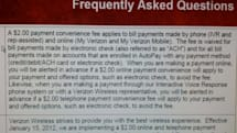 Leaked memo details Verizon's $2 fee for paying your bill; autodraft or ACH the only way out (update: confirmed)