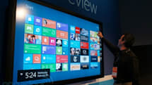 Microsoft Windows 8 on 82-inch touchscreen hands-on (video)