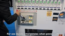 Hand-cranked vending machine offers products sans power, refreshments during emergencies (video)