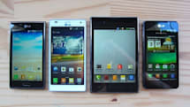 Visualized: LG's Optimus L7, 4X HD, Vu and 3D Max pose for family album