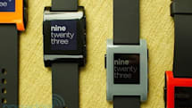 Pebble smartwatch hands-on (video)