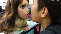 Robotic girl and dog pair up to judge your body odor in Japanese
