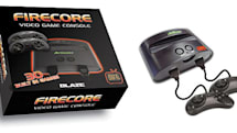 FireCore console pre-loaded with Genesis games, plays carts