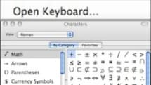 Mac 101: Inserting or typing uncommon characters