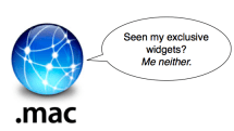 Solved: The case of the missing .Mac widgets