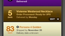 Delivery Status widget lets you track packages from your Dashboard