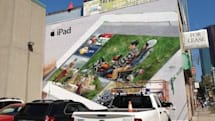 Does Toronto wall mural show a new iPad dashboard? No, it's just iPhoto for iOS