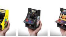 パックマンなどナムコ名作3種が手のひら大に。3980円のミニ筐体型ゲーム機「レトロアーケード」がゲオ先行販売