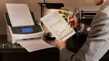 ScanSnapと電子ペーパーノート「クアデルノ」が連携、紙の書類を直接取り込めるように