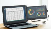ノートPCにつけるだけデュアルディスプレイ。12.5型の『2画面化』モバイルモニターが発売