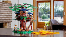 Lego's treehouse set uses plant-based bricks for the greenery