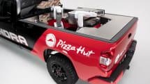 Pizza Hut's hydrogen delivery truck hauls a robotic kitchen