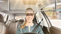 ボッシュ、目の部分だけ遮光する新型サンバイザー『Virtual Visor』発表