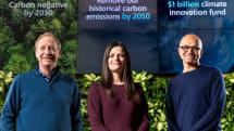 微軟要在 2030 年達成碳的「負排放」